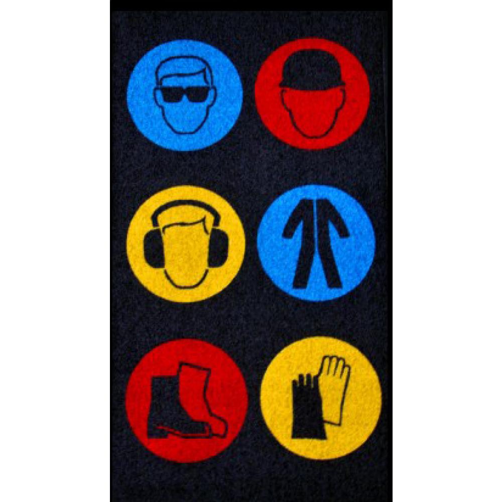 Indoor Carpet Top Safety Message Mats